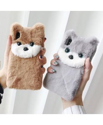 iPhone X 3D Fuzzy Fur Cokey Protective Case