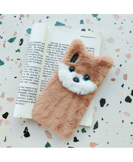 iPhone XR 3D Fuzzy Fur Cokey Protective Case