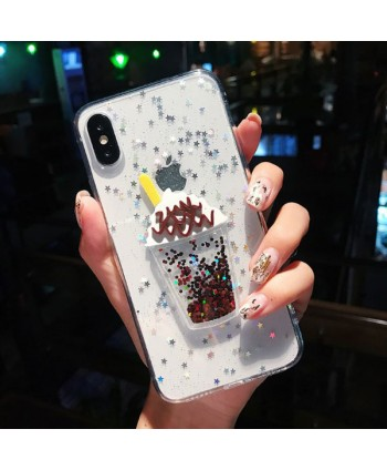 iPhone Glitter Ice Cream Protective Case