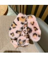 iPhone XS Max Leopard Print Fluffy Fur Bunny Case