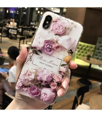 Floral iPhone Cases - Rose And Plum Blossom (2 Pieces Included)