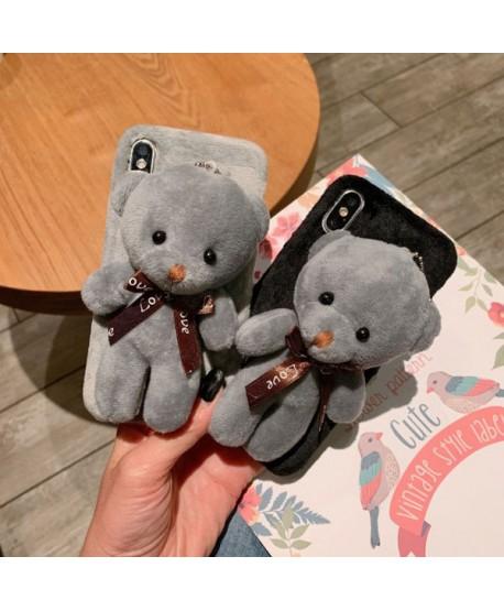 iPhone X Fuzzy Fur 3D Plush Bear Case