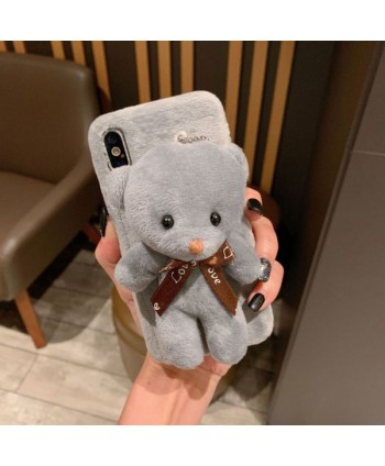 iPhone X Fuzzy Fur 3D Plush Bear Case