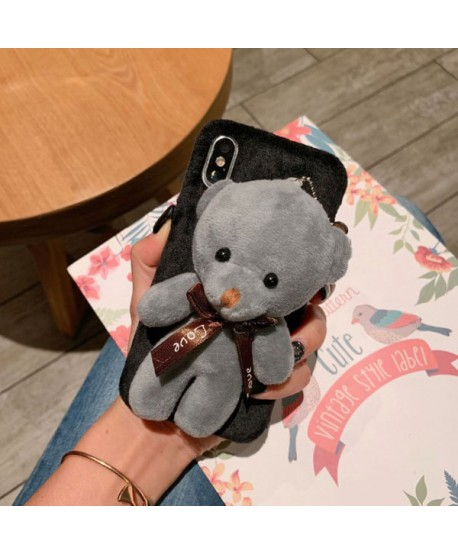 iPhone XS Max Fuzzy Fur 3D Plush Bear Case