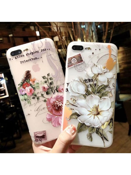 3D iPhone Case Bundle - Red Flowers And White Flowers (2 Cases Included)