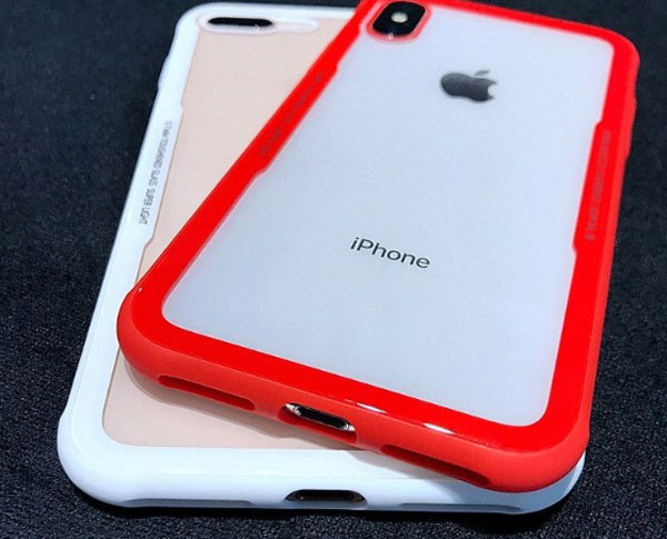 Clear Tempered Glass Case With soft TPU Bumper
