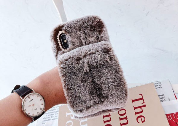 Fluffy Furry iPhone Case With Strap