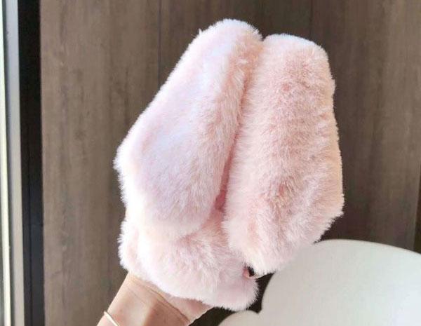 Fluffy Fuzzy Fur Bunny Case