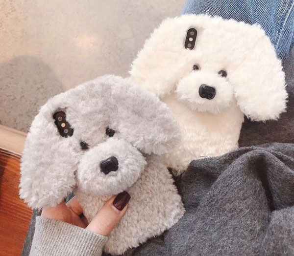 Fluffy Fuzzy Faux Fur Puppy iPhone Case