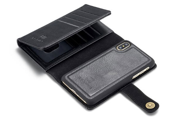 iPhone XS Detachable Leather Wallet Case With Card Holder