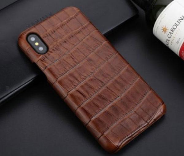 Crocodile Grain Genuine Leather Case