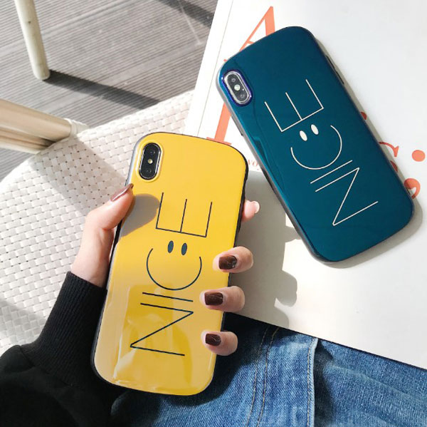 Shield Form Smiley Face iPhone Case For Couples