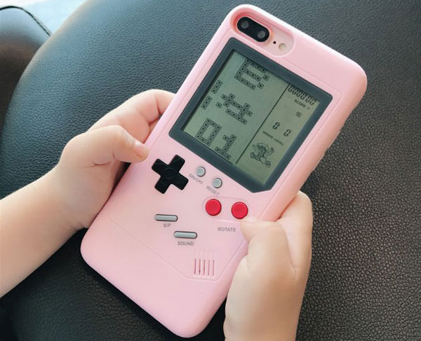 Playable Gameboy Tetris iPhone Case