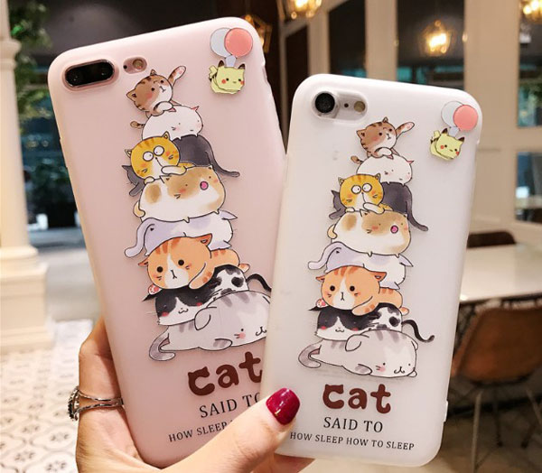 Cartoon Cats Pyramid iPhone Case