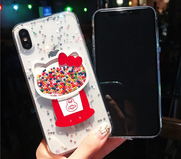 Glitter Kitty Cat iPhone Case
