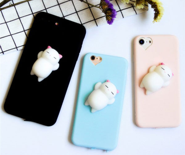 3D Squishy Cat iPhone Case