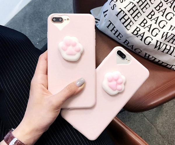 3D Squishy Cat Paw iPhone Case