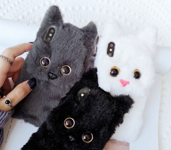 Fluffy Fur Cat iPhone Case