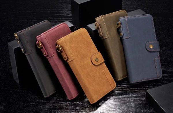 Vintage Leather Flip Case For iPhone Xs