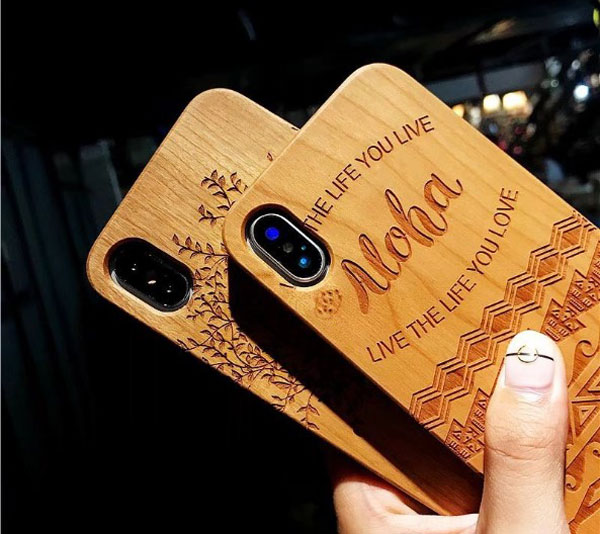 Wood Carved iPhone Protective Case