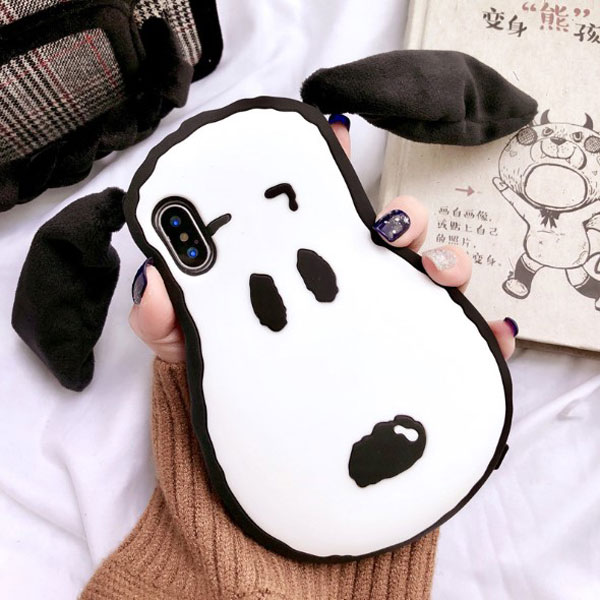 iPhone 3D Puppy Silicone Protective Case