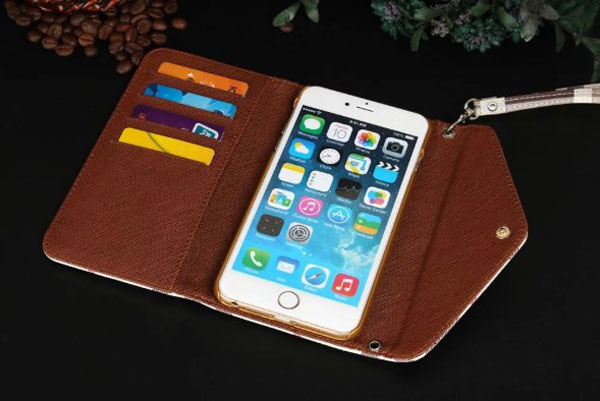 iPhone Lattice Leather Wallet Case