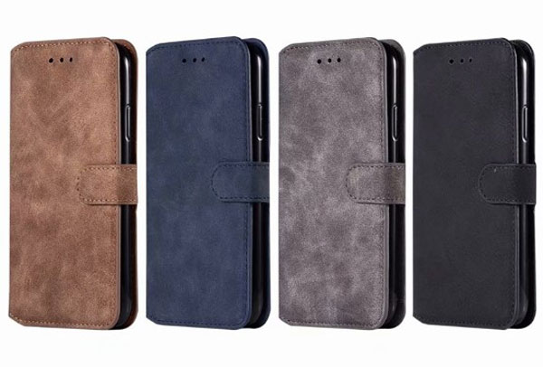 iPhone X Matte Leather Folio Card Case