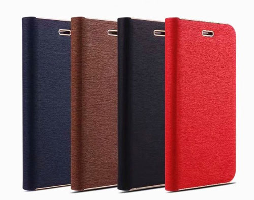 iPhone Silk Grain Leather Flip Case