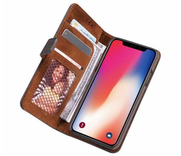 iPhone X Leather Folio Book Style Case