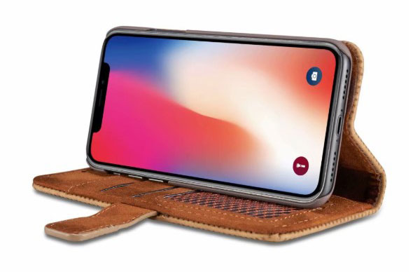 iPhone X Leather Folio Book Style Case