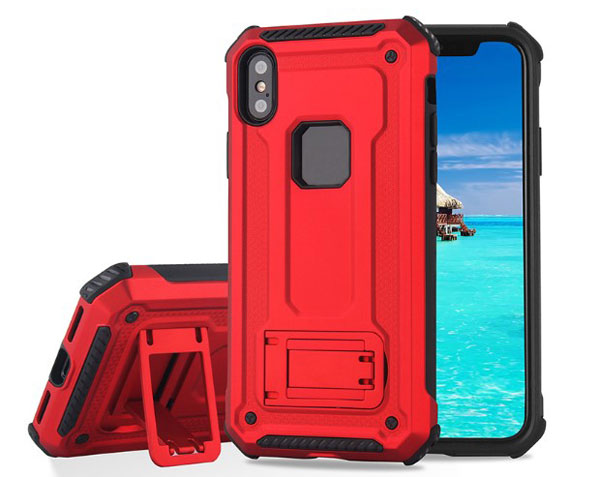 iPhone X Rugged Armor Protective Magnetic Case With Kickstand