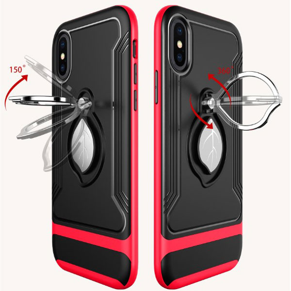 iPhone X Tough Protective Case With Ring Stand
