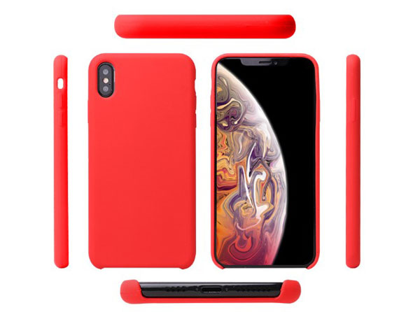iPhone Xs Max Pure Color Liquid Silicone Case