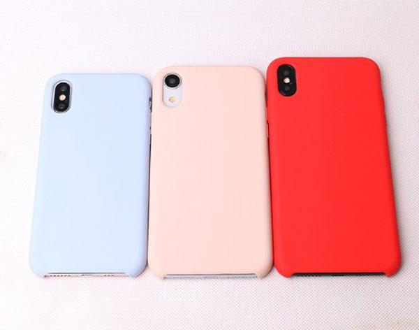 iPhone Xs Max Pure Color Liquid Silicone Case